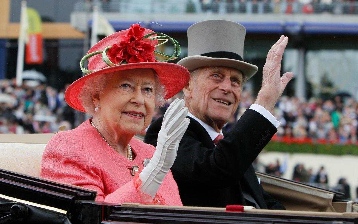 Married since 1947: Queen Elizabeth and Prince Philip.