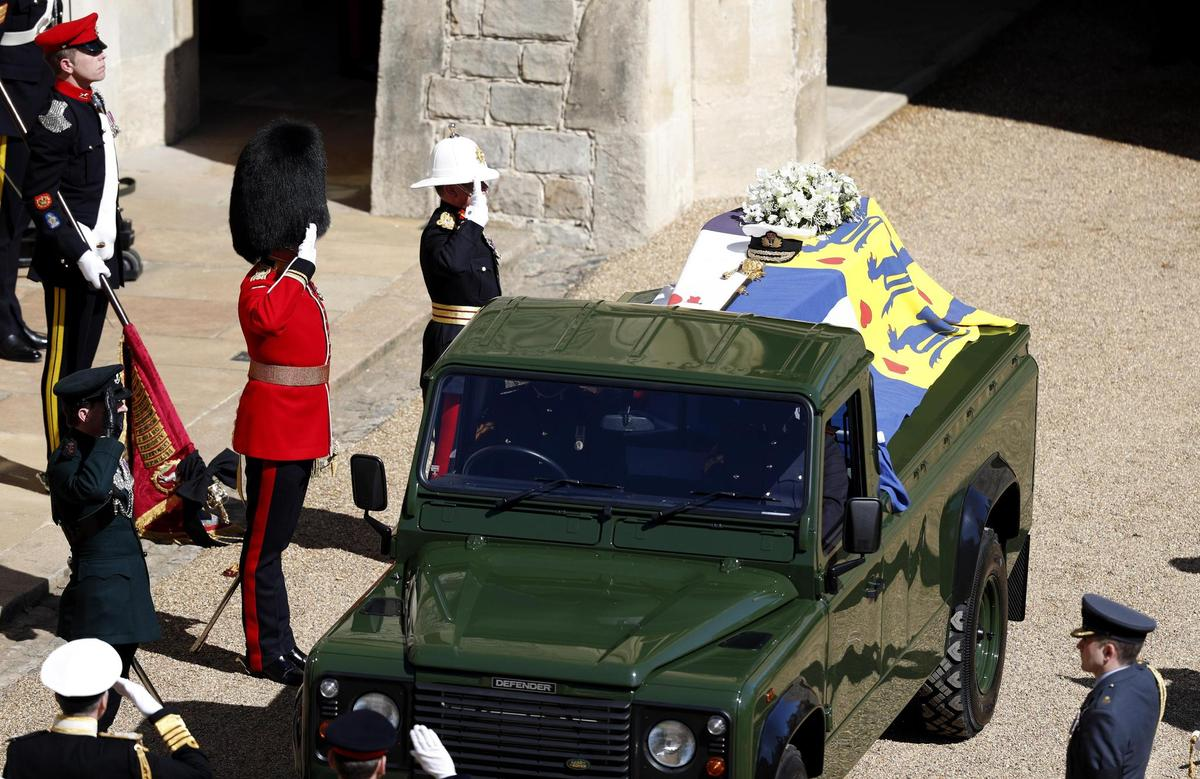 The army greets the late Prince Philip.