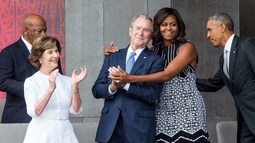 Ex-President Bush talks about his friendship with Michelle Obama