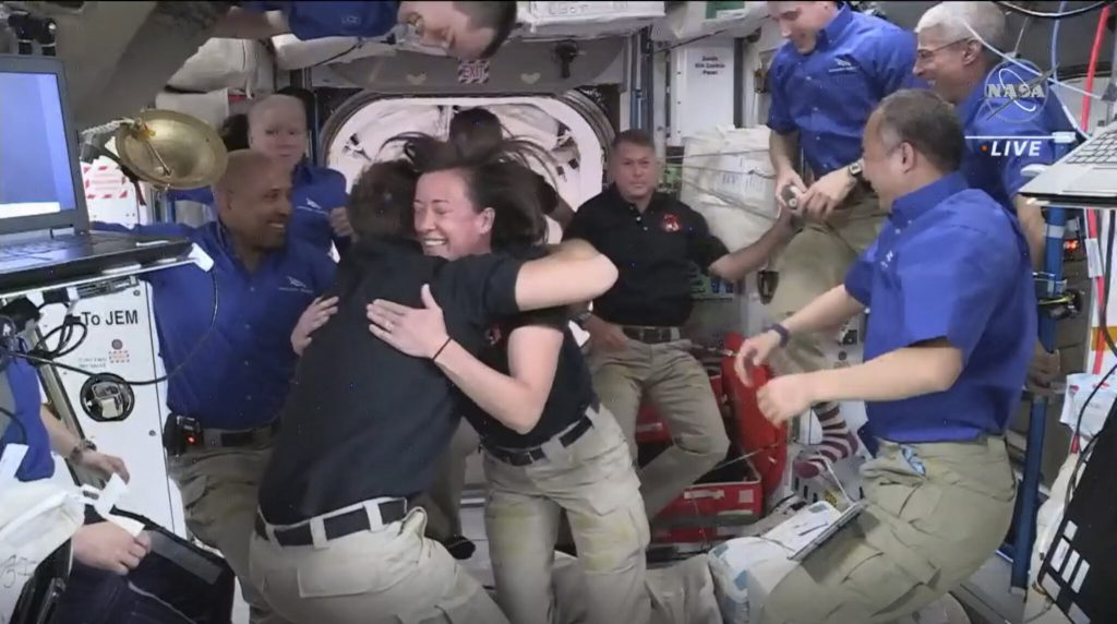 SpaceX astronauts have arrived at the International Space Station (ISS)