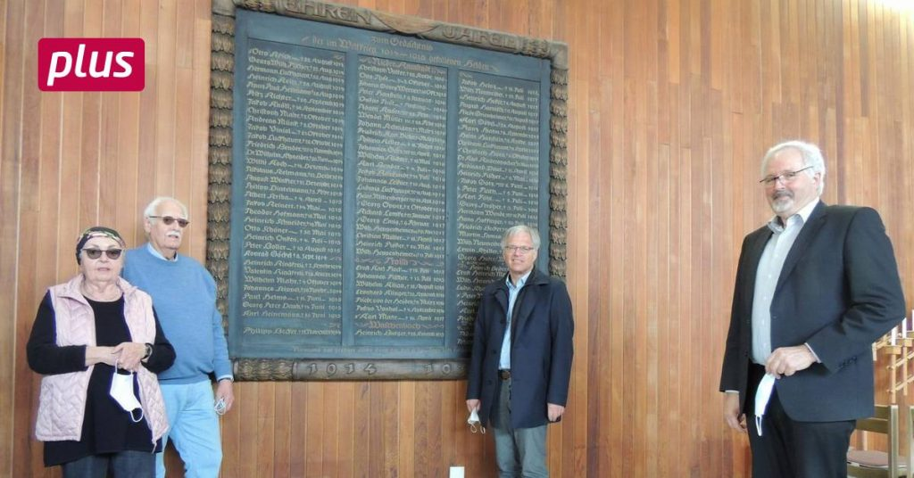 The painting dedicated to war victims finds a new place in Nieder Rammstatt