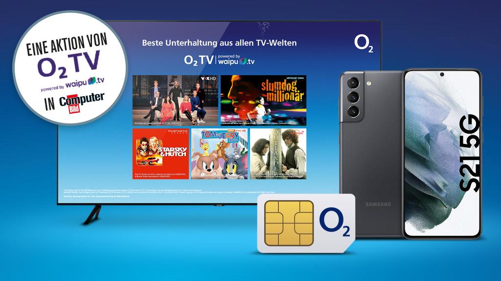 Samsung Galaxy S21, O2 Free Unlimited Max-Tarif + O2 TV gewinnen