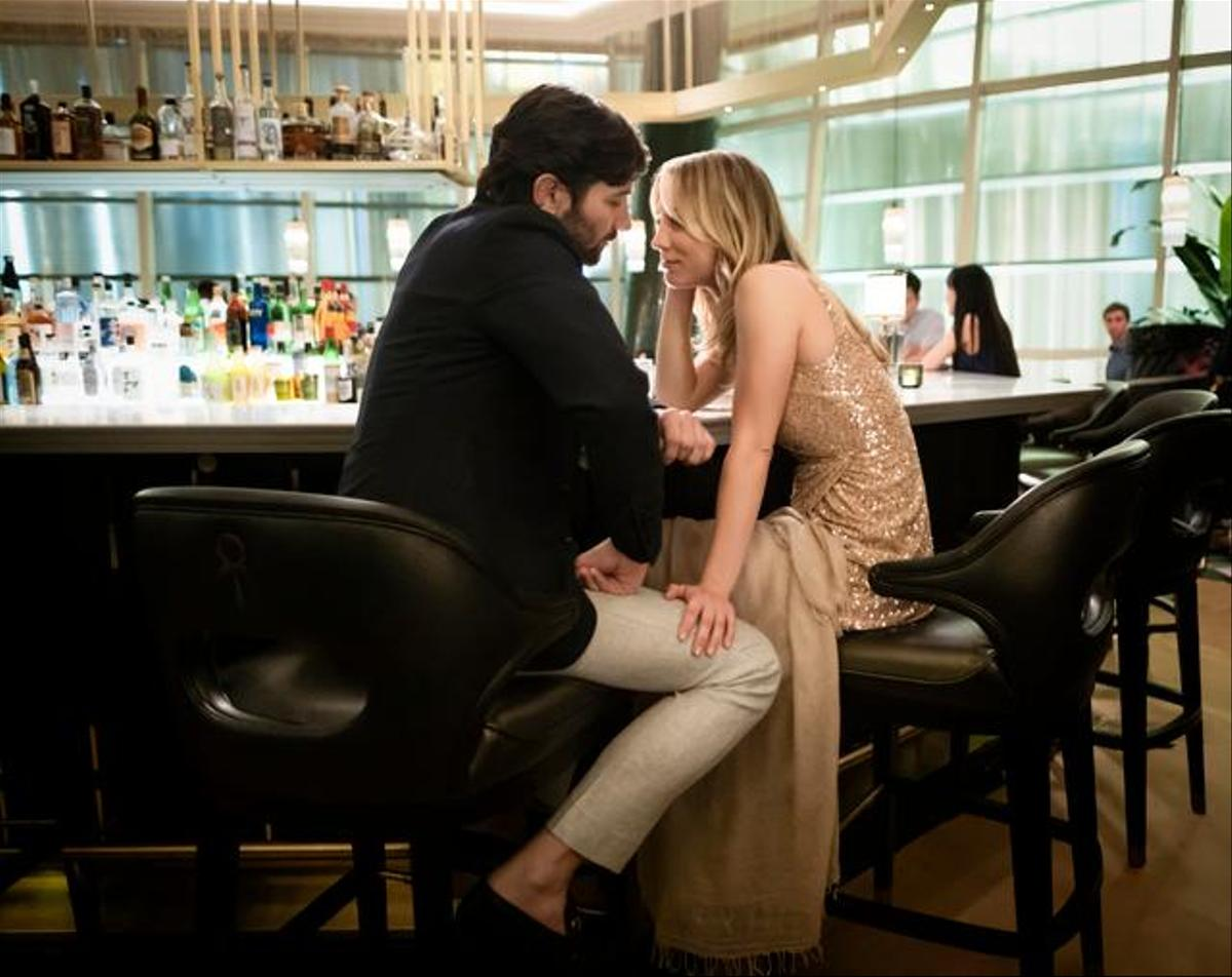 Flirt with potential?  No, Alex (Michiel Huisman) passed away shortly after meeting Cassie (Kaley Cuoco).
