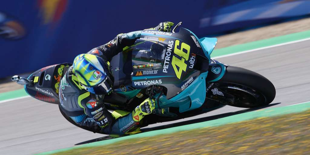 Valentino Rossi ranked ninth in training