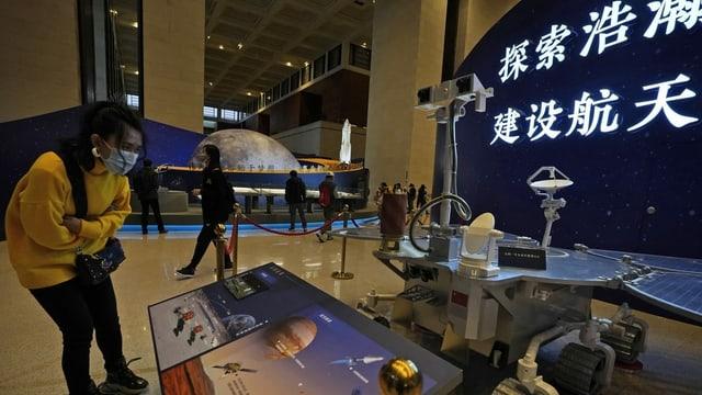 Exhibition visitor