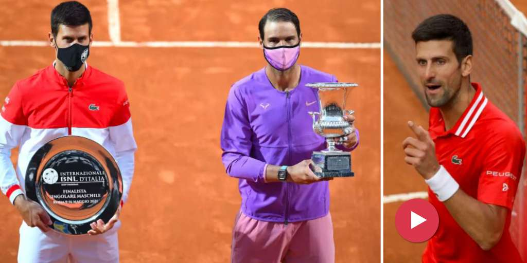 Novak Djokovic with a verbal deviation in final bankruptcy in Rome