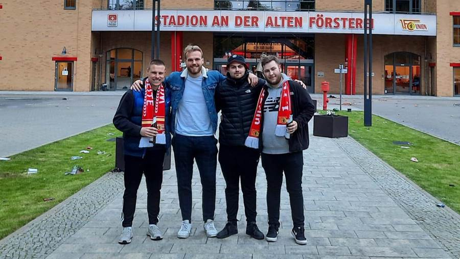Alt Ruppins Max Döbbelin (left) automatically moved to Alte Försterei with three of his friends.