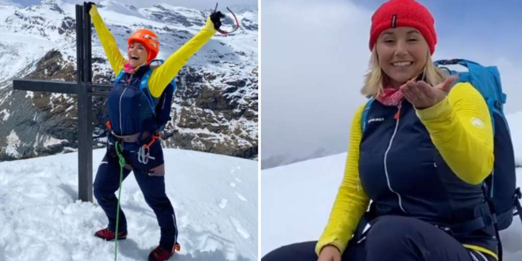 Beatrice Egli brings her lucky charm to the Matterhorn