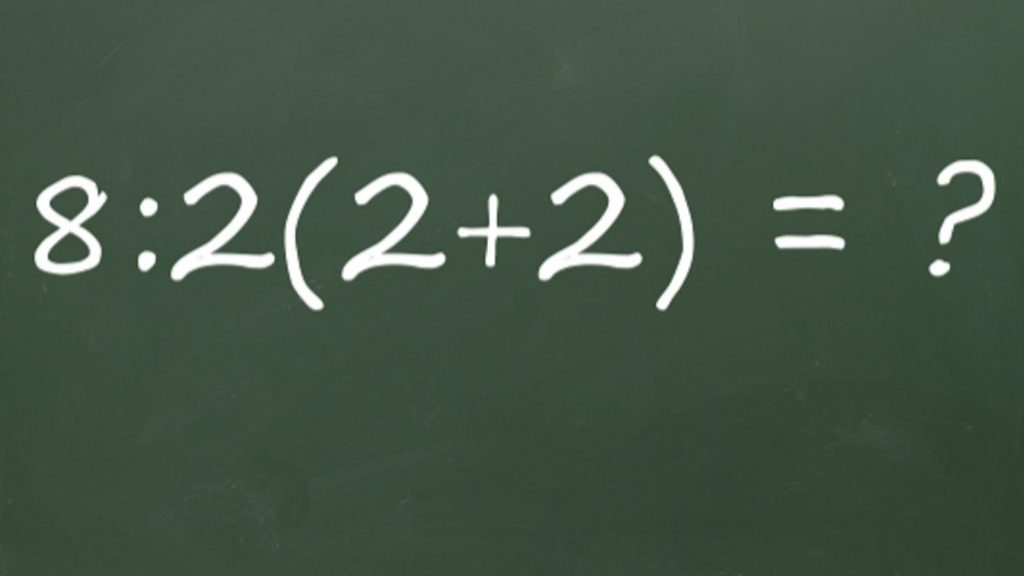 A dispute has erupted on the Internet over this math problem