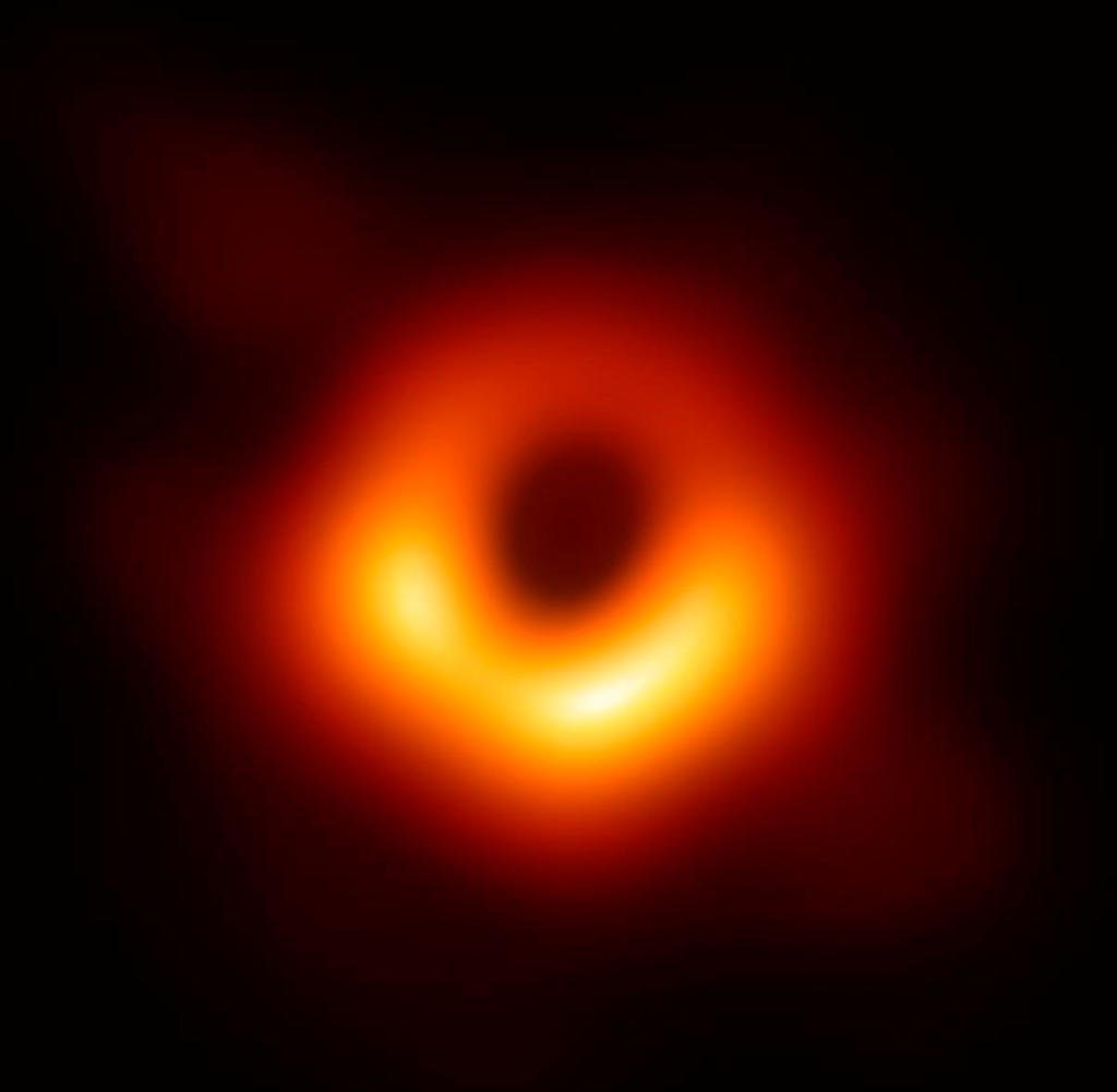 A Chinese astronomer presented the first-ever image of a black hole in the heart of Messier 87, a massive, distant galaxy in the Virgo galaxy cluster at a press conference in Shanghai, China, April 10, 2019. The first-ever image of a black hole's chest galaxy, a joint effort of more than 200 astronomers around the world, including 16 from the Chinese mainland, on Wednesday.  It was the first visual representation of what is considered the most extreme thing in the universe.  The image shows the black hole in the heart of Messier 87, a massive distant galaxy in the Virgo cluster of galaxies.  It is located 55 million light years from Earth and has a mass of 6.5 billion times the mass of the sun.  It puts to the test Albert Einstein's theory of general relativity, put forward in 1915, which allows predictions of the size and shape of a black hole.  The Event Horizon Telescope, a globe-spanning array of eight ground-based radio telescopes, was used to observe the black hole.  It took an international scientific team to capture the picture of paradigm shift, which was announced through curated press conferences around the world.  The telescope array used a technique called ultra-long-range interferometry, which synchronizes radio telescopes.