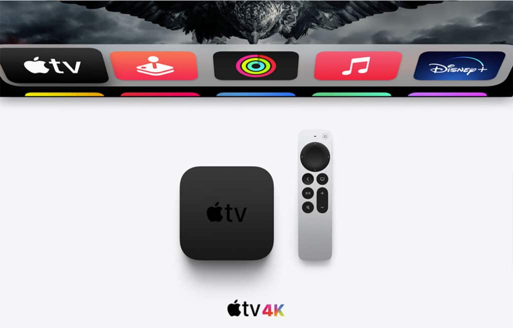 New Apple TV 4K (Gen 2) with New Aluminum Remote (with Click Wheel)