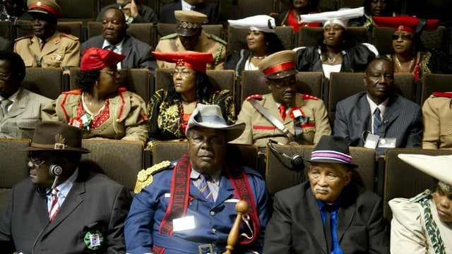 Delegation from Namibia that in 2011 German atrocities ended