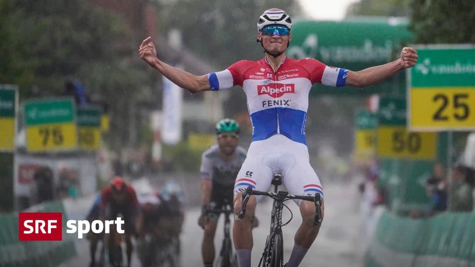 Tour de Suisse second stage - Van der Poel win - Küng leads thin chip lead - Sport