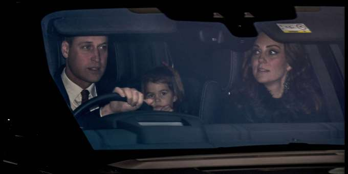 Harry's brother William, his wife Kate, daughter Charlotte and Prince George (not pictured) also celebrated.