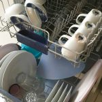No space for cups in the dishwasher?  This trick creates more storage space
