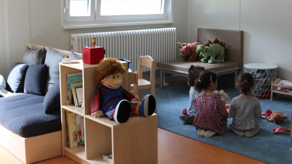 Two nurseries and one kindergarten group are already allowed to play in Sant Pino's beautifully designed rooms.