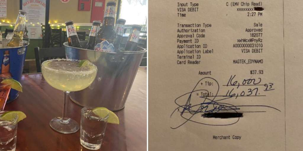 A guest at an American bar tips nearly 15,000 francs