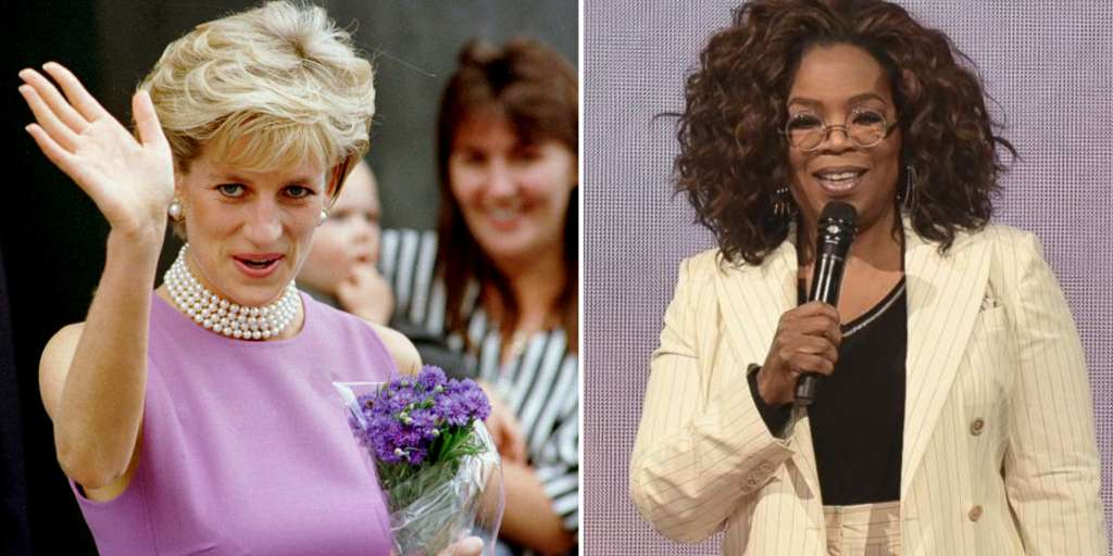 This is how the hateful Princess Diana (36) deceived Oprah Winfrey