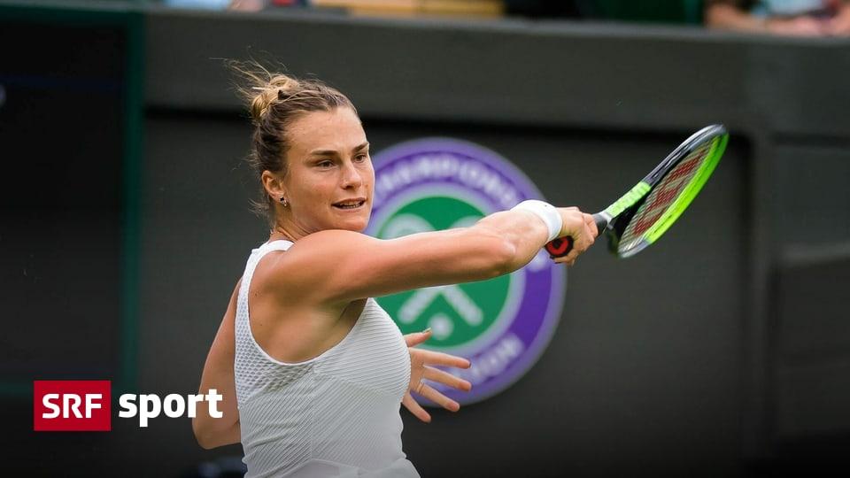 Wimbledon round: Women - Sabalenka sweeps playoffs off the field - Kvitova out - Sports -