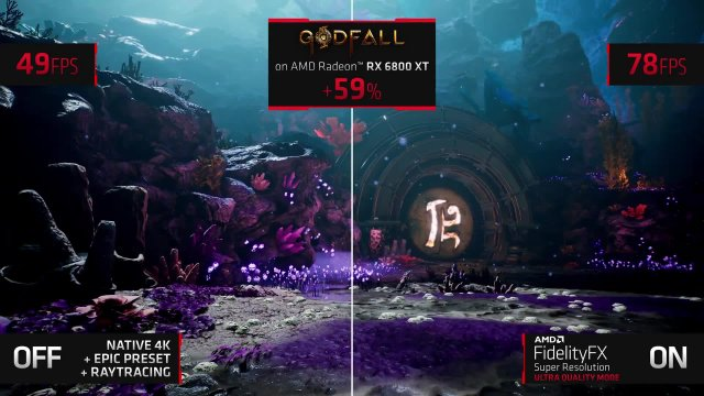 AMD Fidelity FX Super Resolution: A DLSS competitor in video