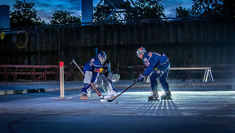 Ice hockey on the construction site: the first will be the first