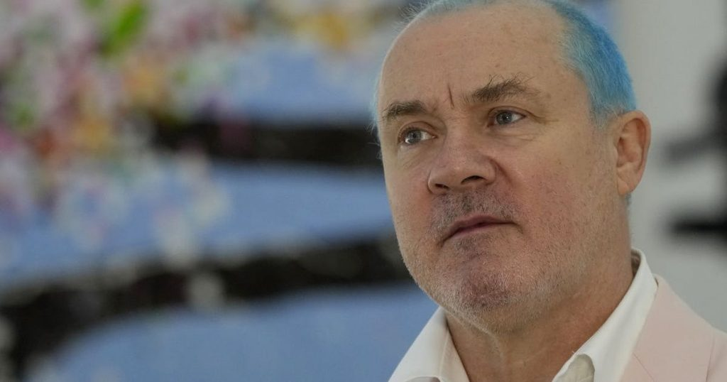 Damien Hirst displays his cherry blossoms in a big way