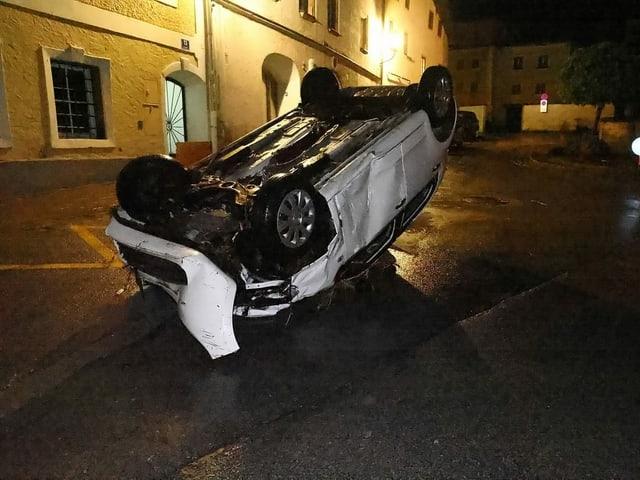 The car was swept away in Hallen