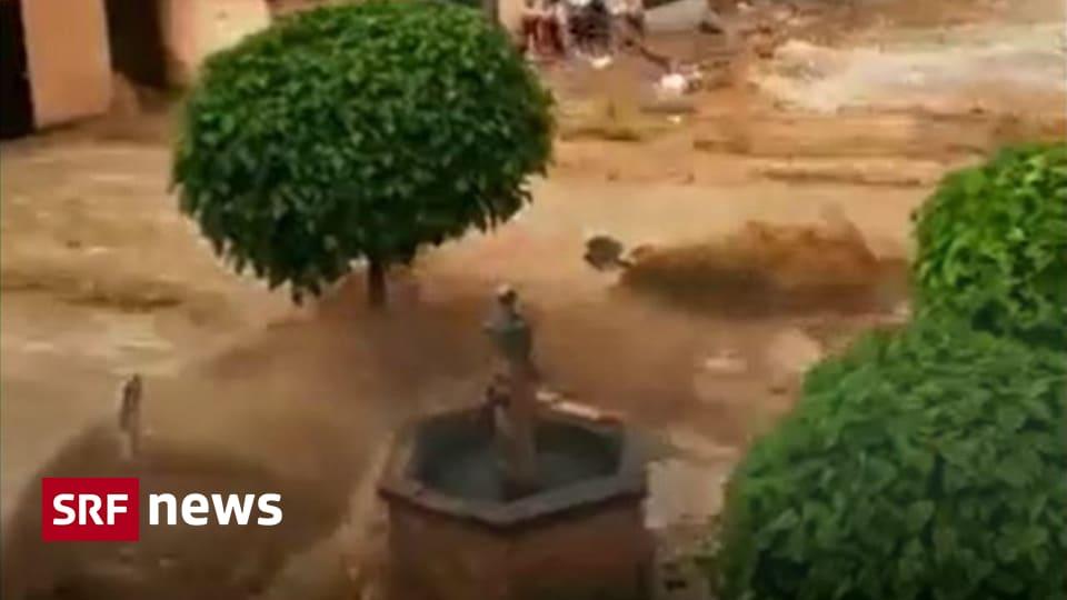 Storms in Austria too - Heavy flooding sweeps Hallen in Austria - News