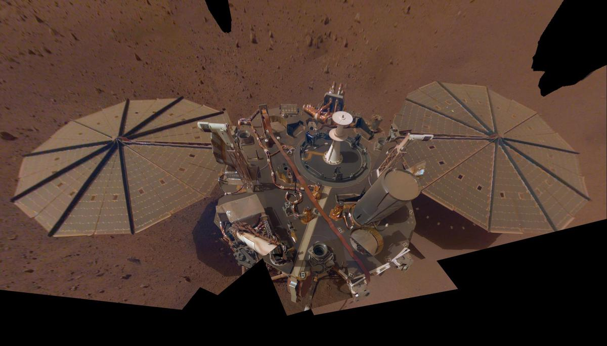 Selfie from Insight on Mars.