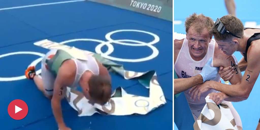 Blummenfelt wins triathlon gold - and pukes