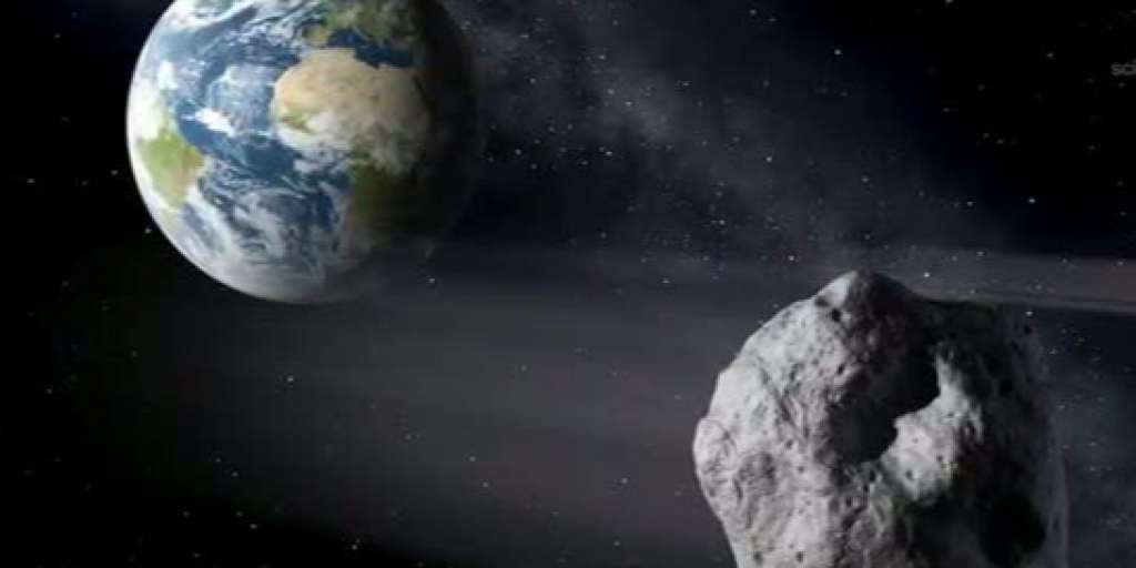 A huge asteroid blasted off near Earth on Sunday