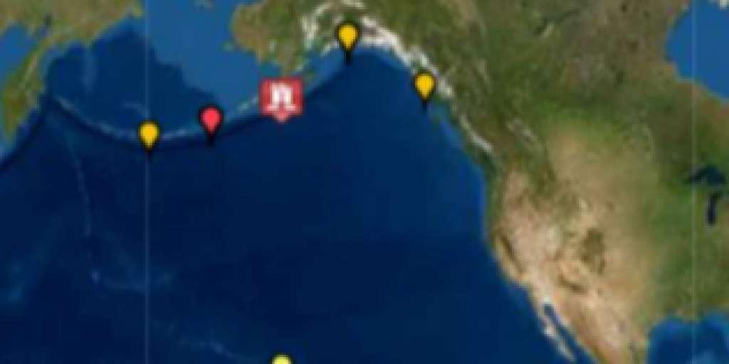 Huge marine earthquake triggers tsunami warning