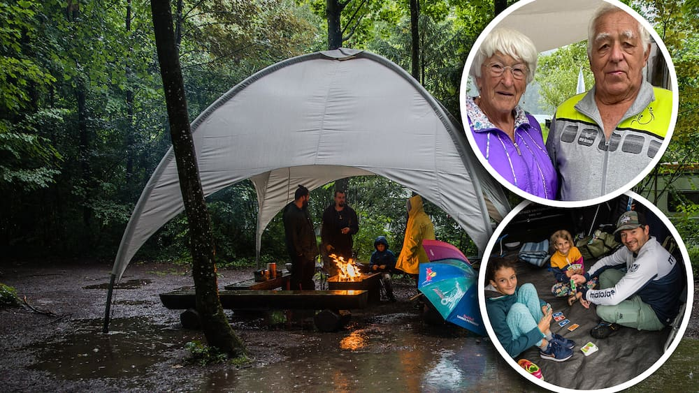 Bad weather - campsites suffer from rainy summer
