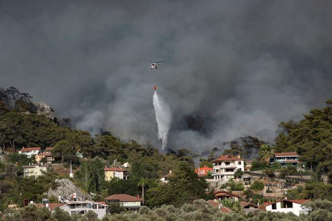 Forest fires in southern Turkey