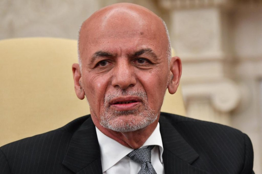 A tape on the conflict in Afghanistan - Afghan president leaves the country, Taliban enters Kabul