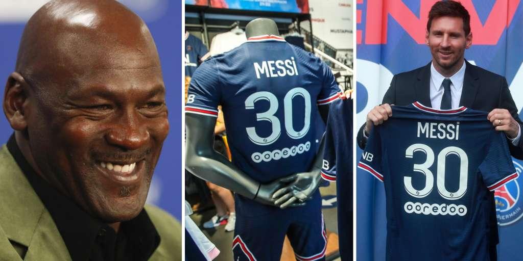 Michael Jordan flops after Messi transfer