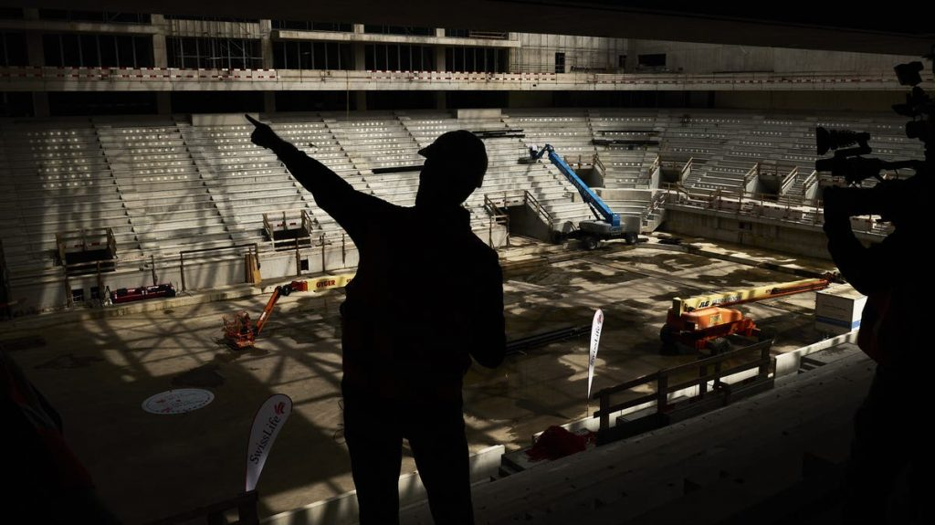 Construction progress of new ice hockey stadium for ZSC Lions