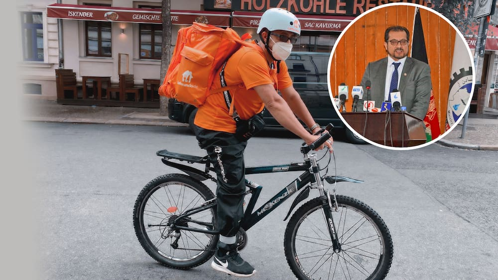 A former minister from Afghanistan is now a food courier in Germany