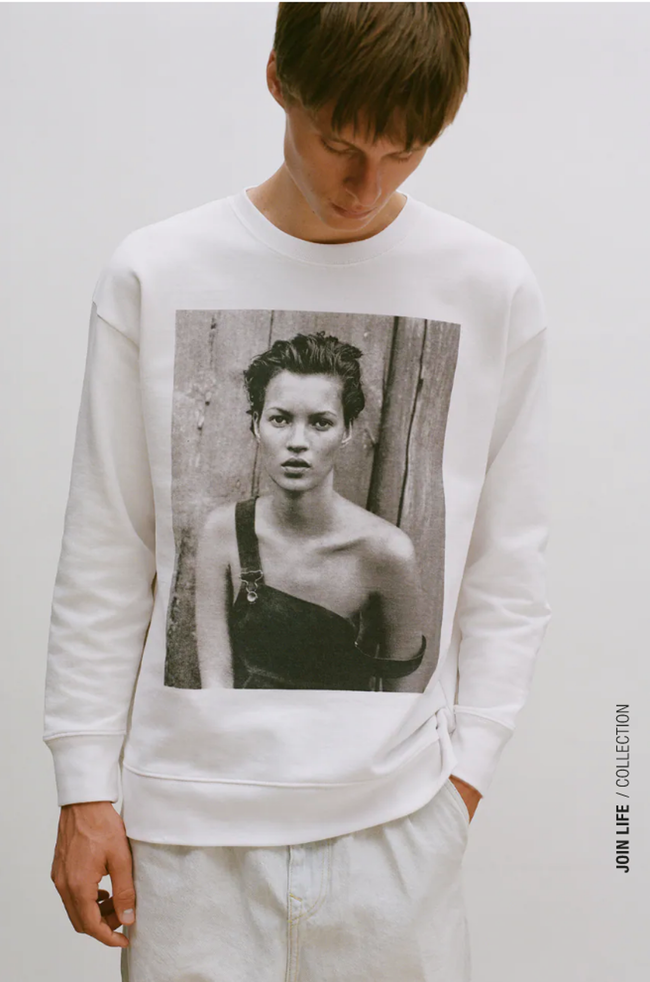 Zara's new limited edition collection pays tribute to the legendary portraits of Kate Moss and other fashion icons, photographer Peter Lindbergh, who passed away in 2019.