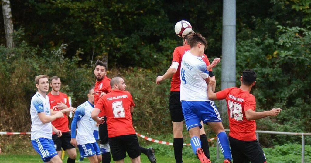TSG Zellertal plays a match on a foreign stadium - football