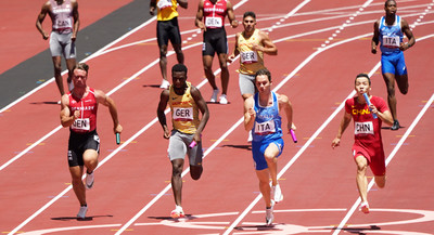 The fastest 4x100m runners come from Italy - Team DLV is sixth