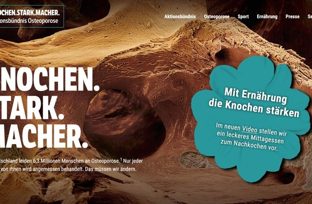 ▷ New content on aktionsbündnis-osteoporose.de / Nutrition and exercise in ...
