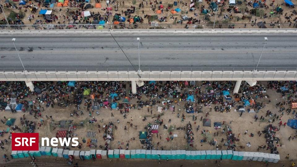 Drama on US southern border - Thousands of migrants under bridges - US relies on deportation flights - News