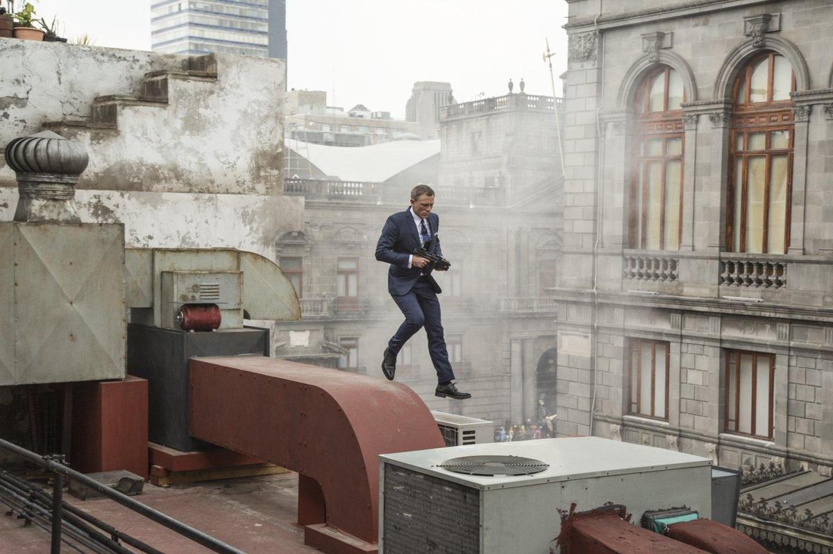 James Bond on a mission in Mexico in the movie
