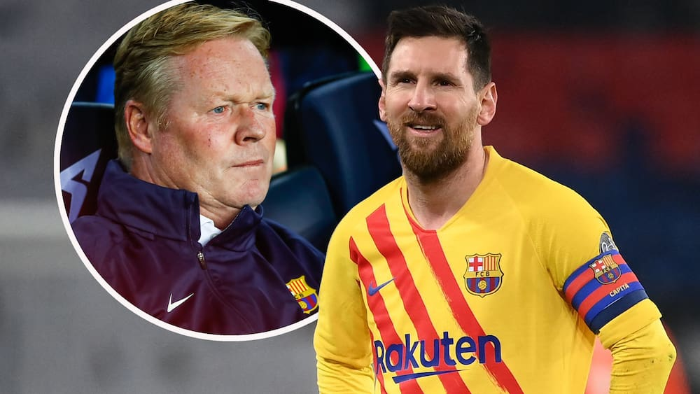 Football: Barcelona coach Ronald Koeman shares his secrets with Messi