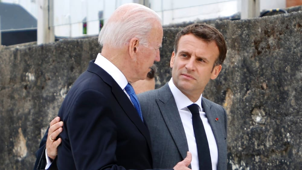 France and the United States are coming together again in a submarine dispute