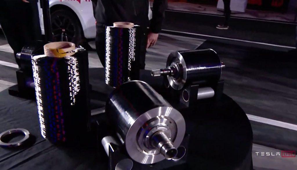 tesla plaid event kohlefaser rotor