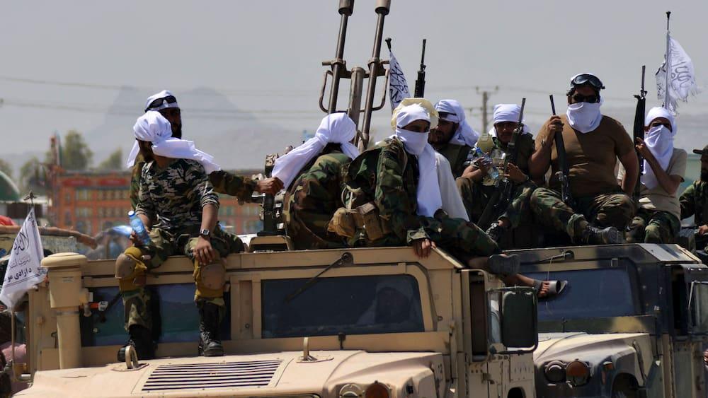 Taliban celebrate abandoned US military vehicles