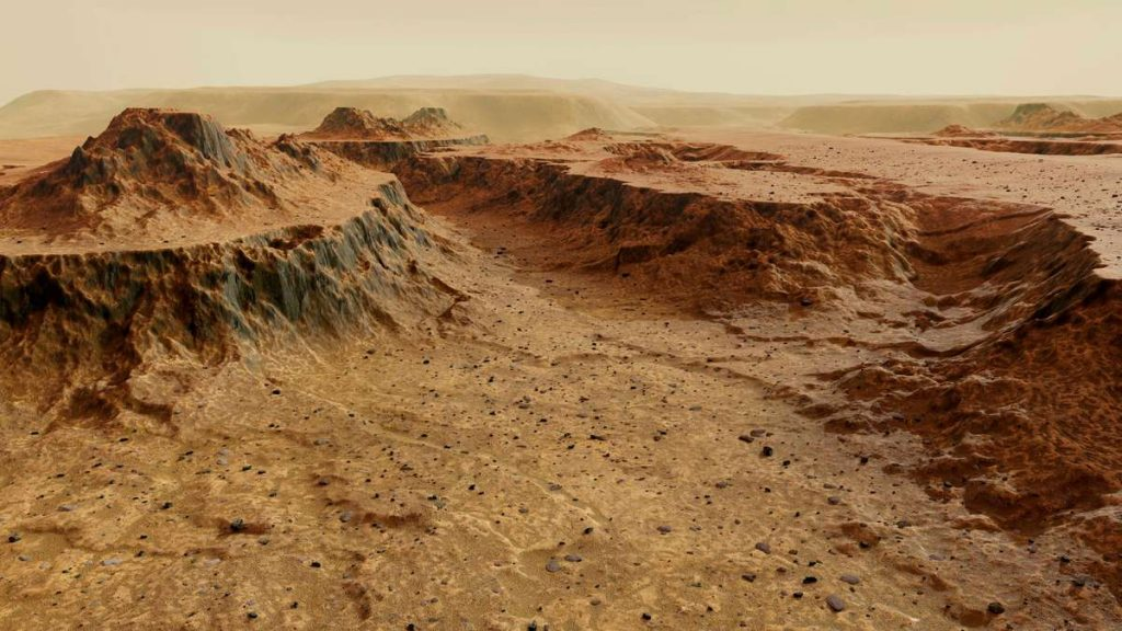 """The discovery of a """"strange building"""" on Mars - the researcher """"confused"""""""