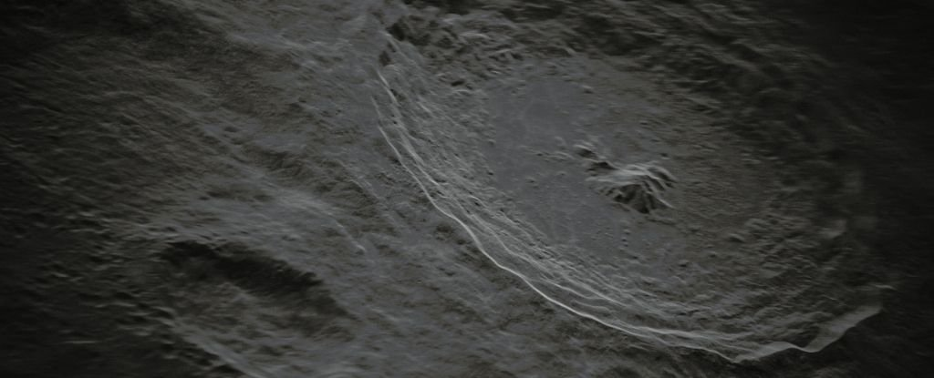 This crazy new photo of Taiko's crater on the moon is so detailed that it hardly looks real